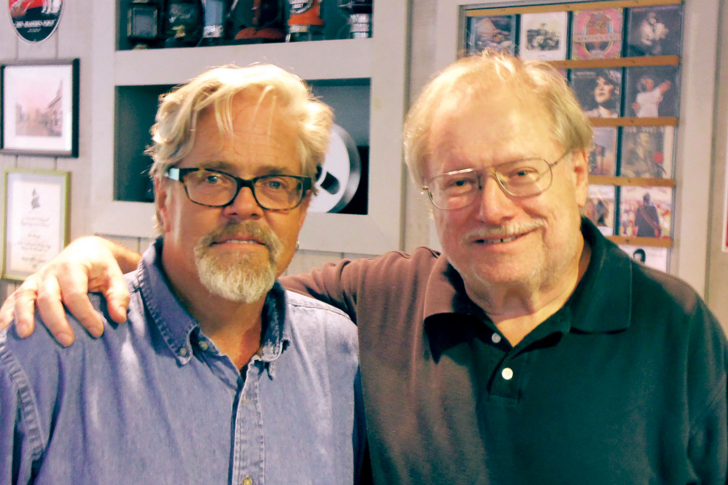 John Cowan and Rich Adler at Sound Wave Recording studios